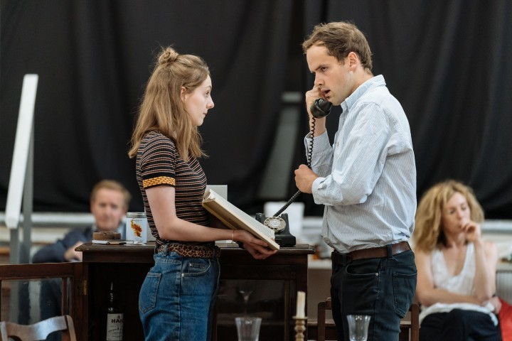 Helena Wilson & Ralph Davis in rehearsal for The Deep Blue Sea at Chichester Festival Theatre Photo Manuel Harlan-033
