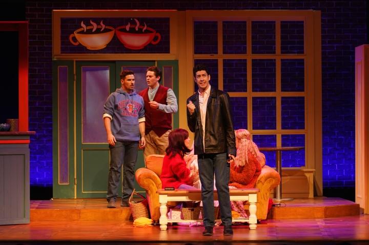 Friendsical - Production Images - Jordan Fox, Thomas Mitchells, Jamie Lee-Morgan, Sarah Goggin, Ally Retberg -Photo By Dale Wightman GEM-00312