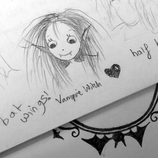 First Sketch of Isadora Moon