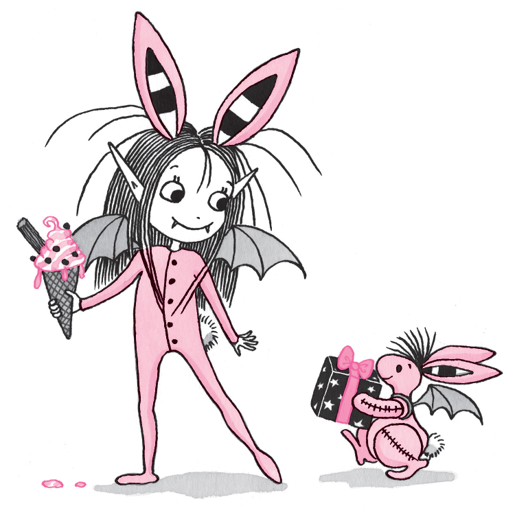 Isadora and Pink Rabbit dressed as each other