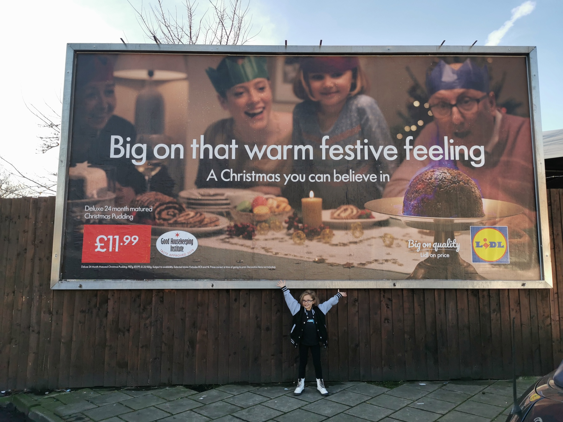 Jayda Eyles LIDL Xmas 2019 Billboard Photo Cred BRE Photography